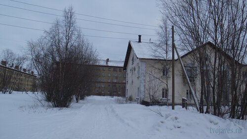 Фото города Инта №2758  Гагарина 5, 11 и Коммунистическая 2 31.01.2013_13:17