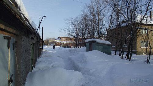 Фото города Инта №3798  Северо-западный угол Чернова 6 19.02.2013_13:04