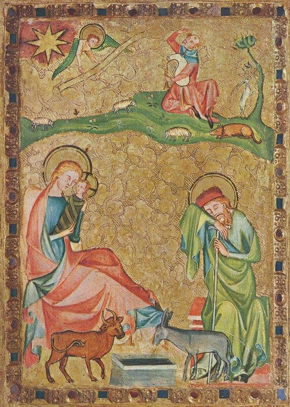 Kölner Maler um 1330 - Geburt Christi