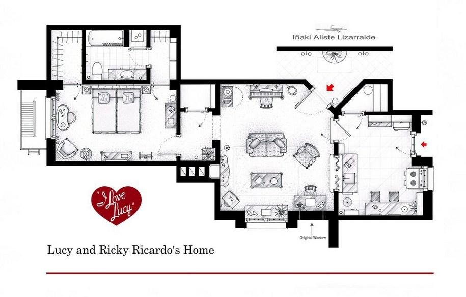 Квартира Люси и Рики Рикардо из шоу «Я люблю Люси»