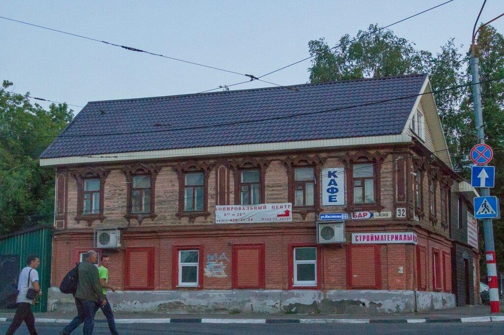 Старый дом на улице Маслякова, Нижний Новгород