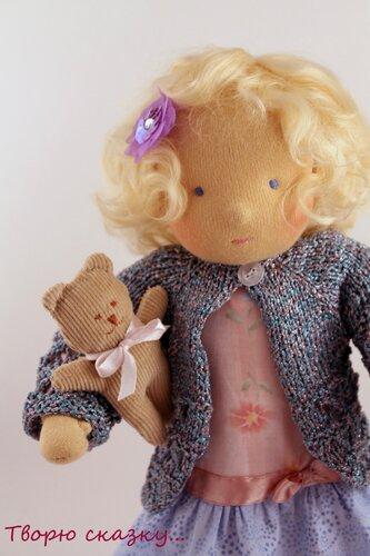 Анюта. Вальдорфская кукла.