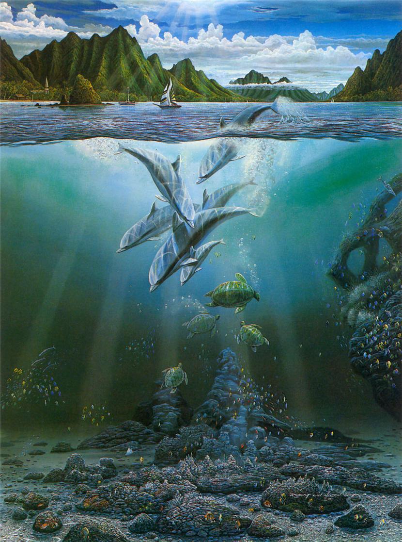 Подводный мир хранит седой Нептун, Владения его необозримы.Robert Lyn Nelson