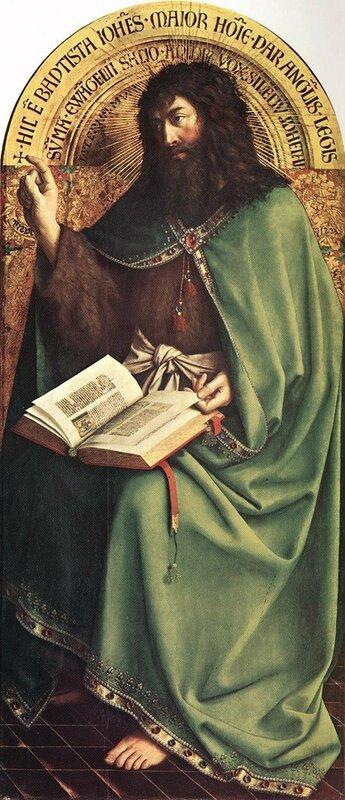 Ян ван Эйк, Гентский алтарь, Иоанн Креститель, 1432