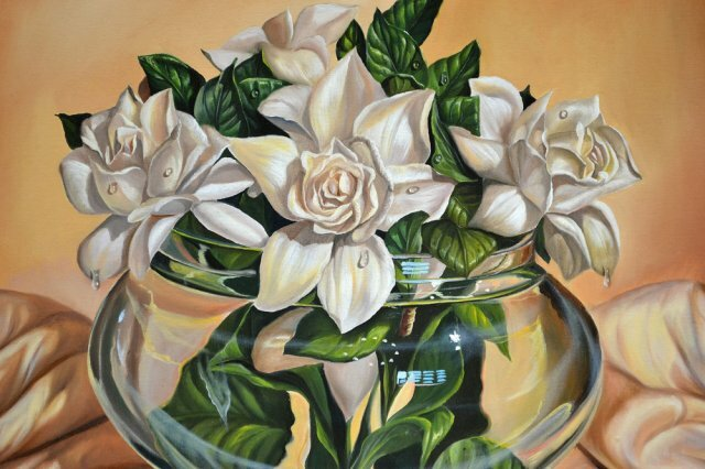 Натюрмортс лилиями