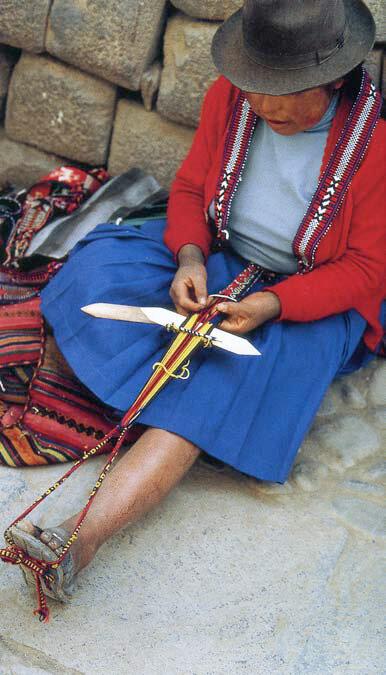 Ткачество пояса. Перу