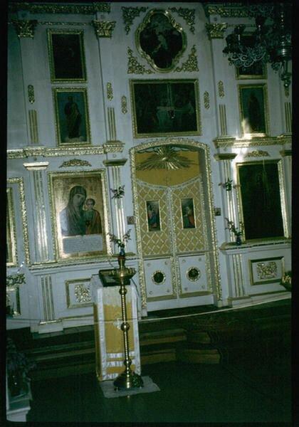 168. Интерьер церкви в селе Николы на Байкале