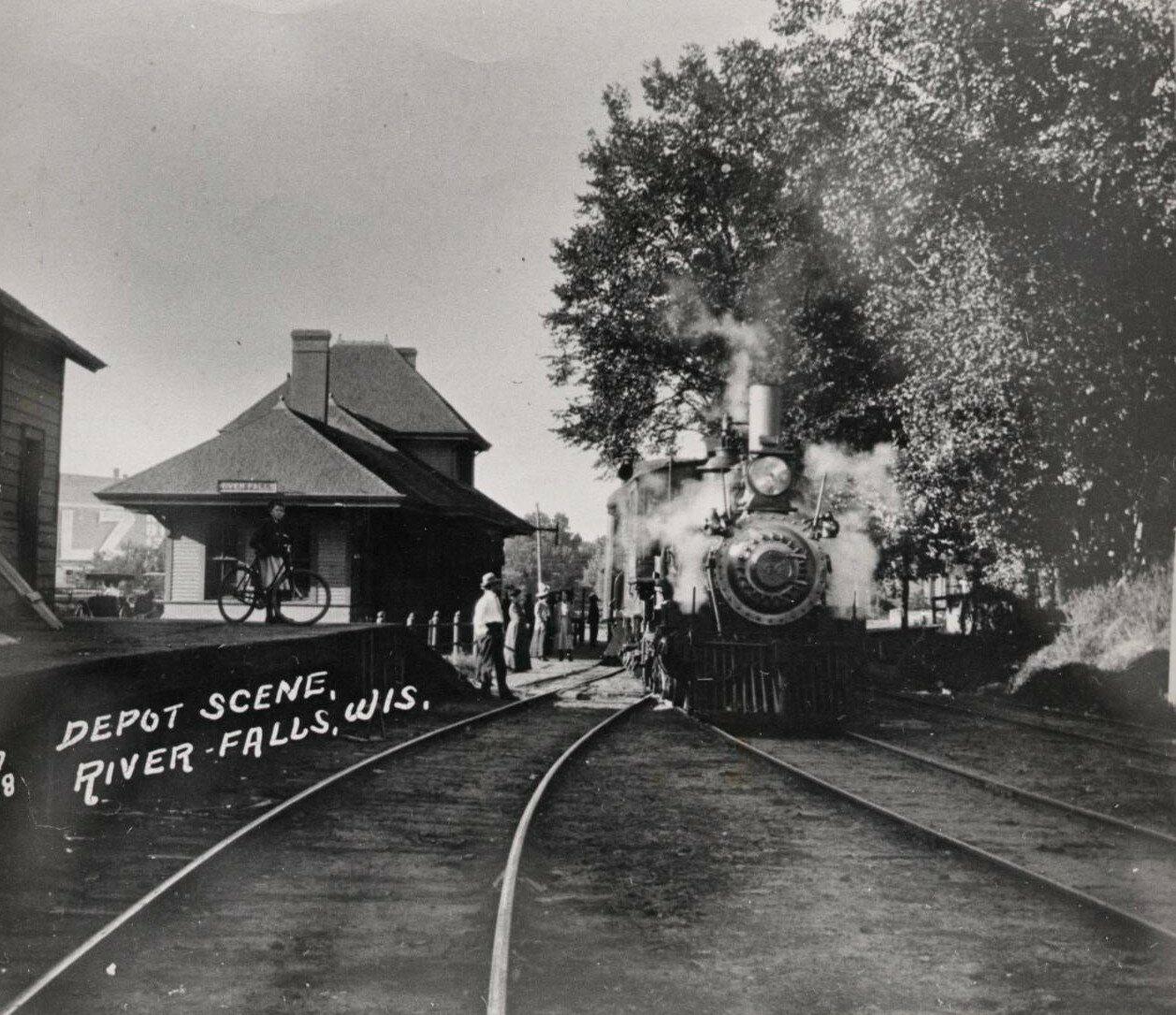 Железнодорожная станция, ок. 1880 года