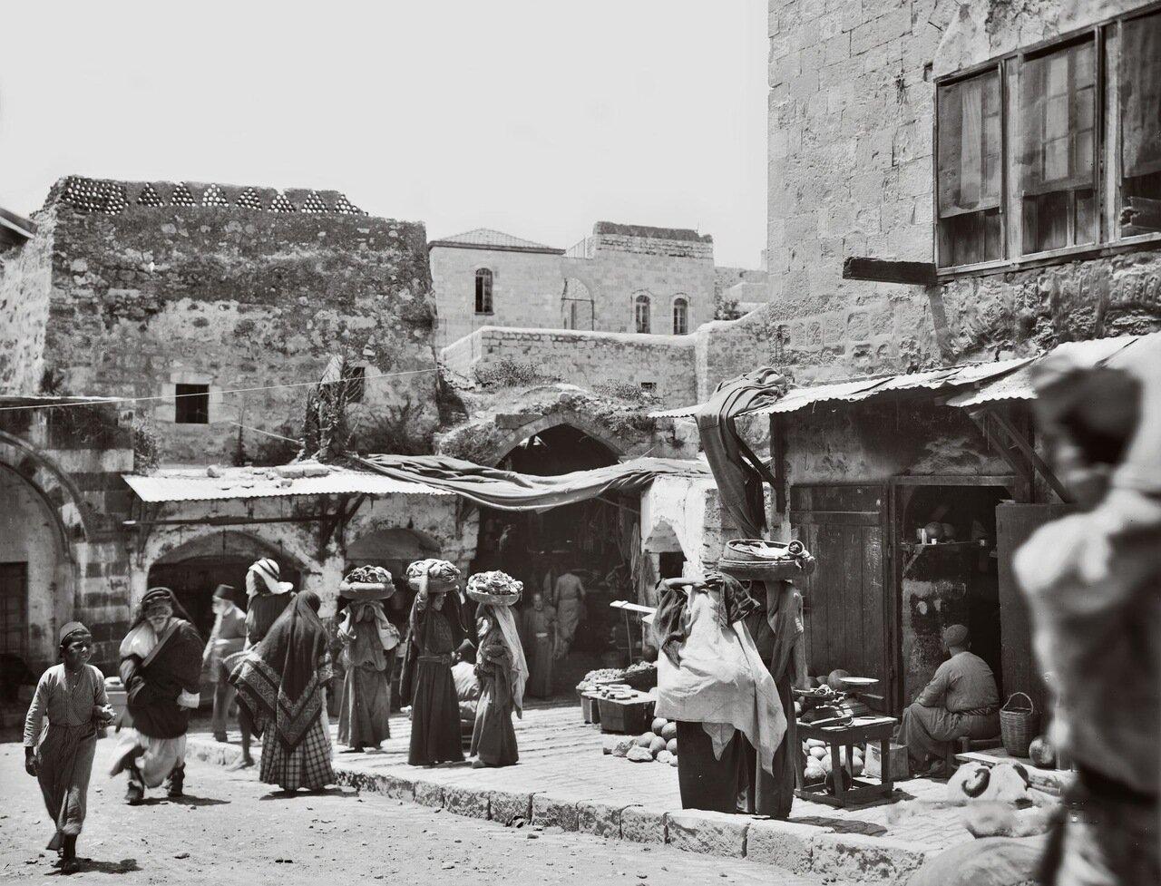 Дамасские ворота. Иерусалим, Палестина. 1898-1914