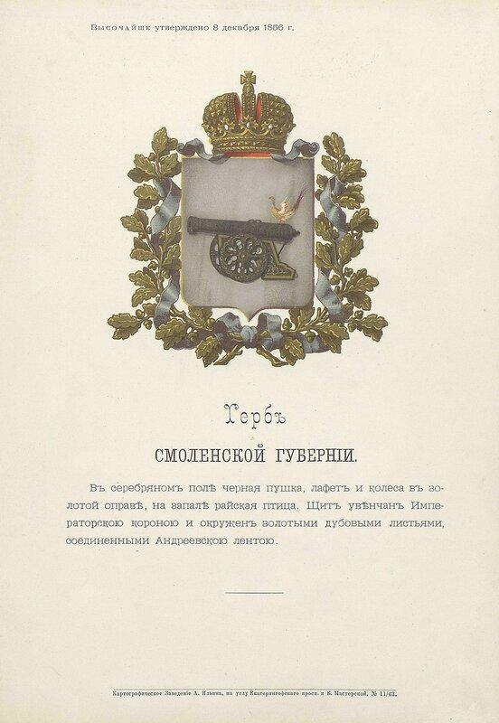Смоленская губерния 1880 год