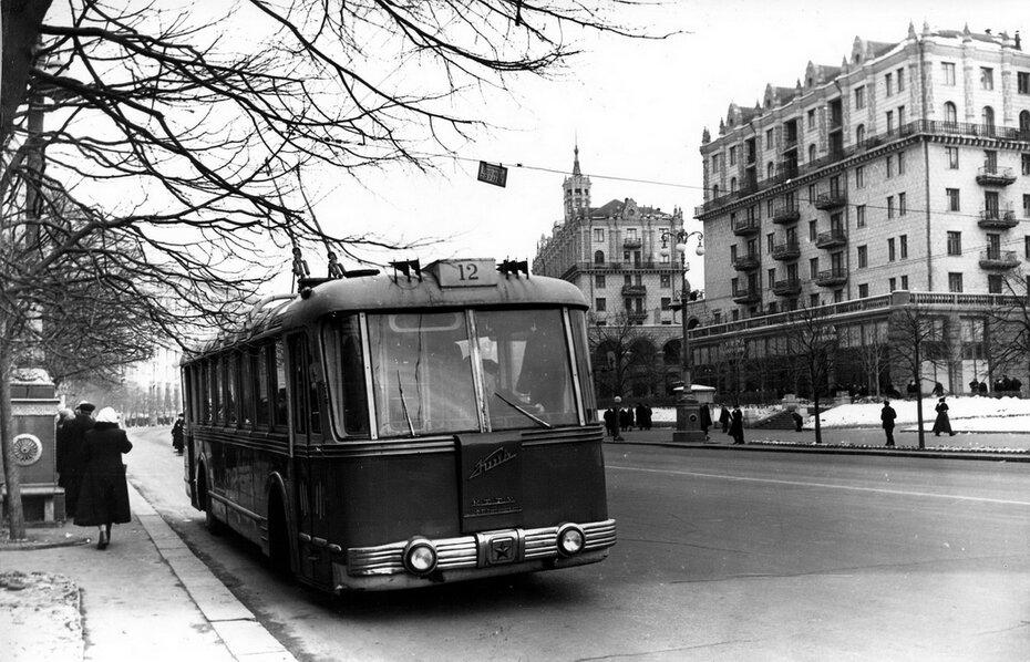 1959. Троллейбус №12 на Хрещатике
