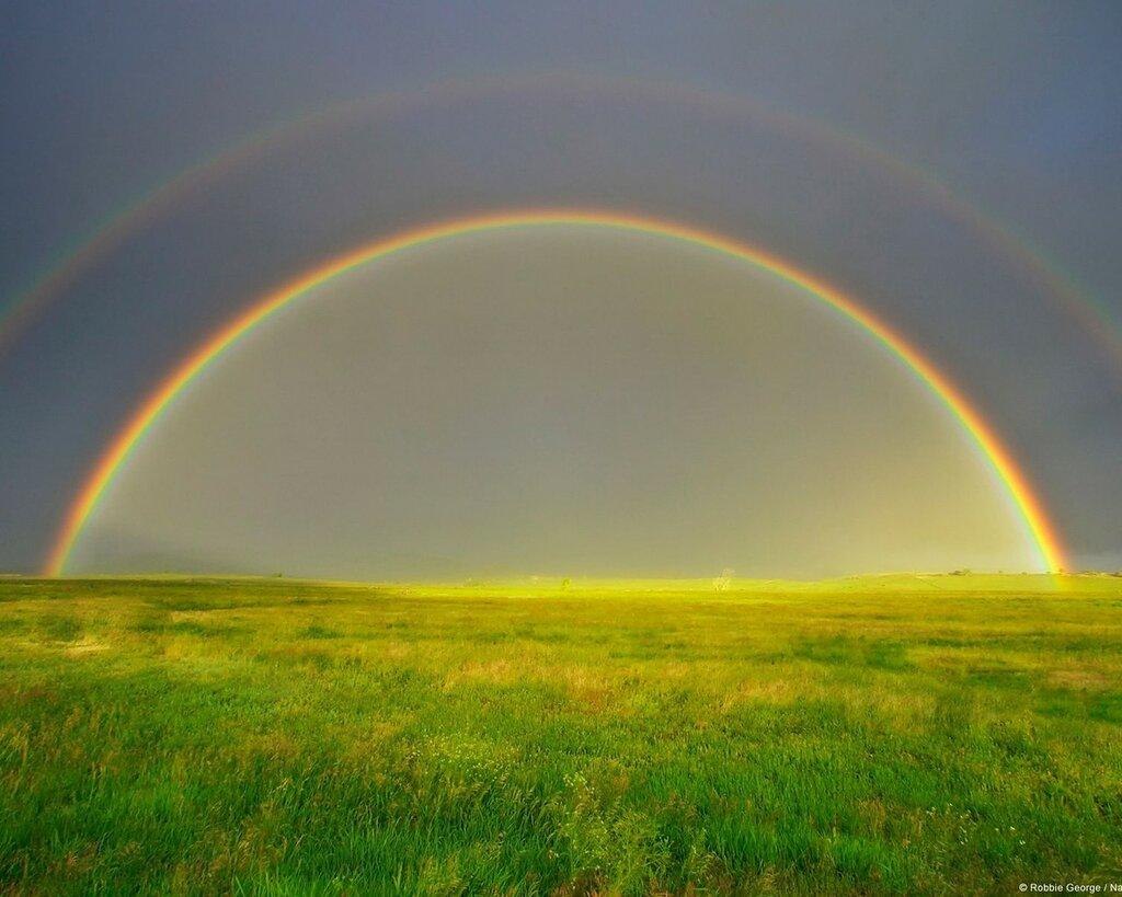 фото радуги над землей лазерный керамический