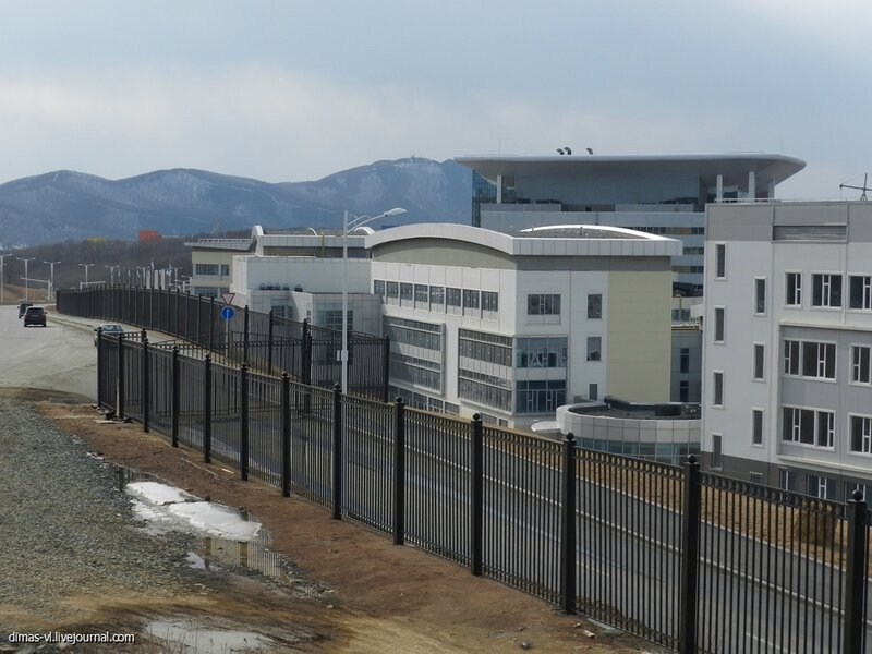 Кампус ДВФУ на о.Русский (Владивосток). 25-марта-2013г