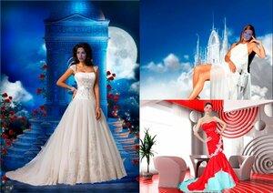 Шаблоны для фотошопа - Девушки в красивых платьях 0_ca08b_290430bd_M