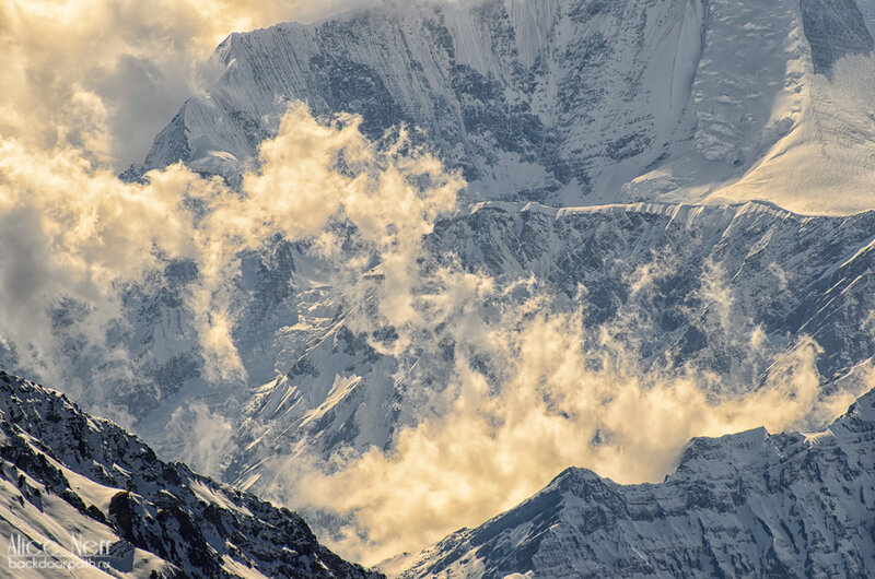 гималаи, облака в горах, непал