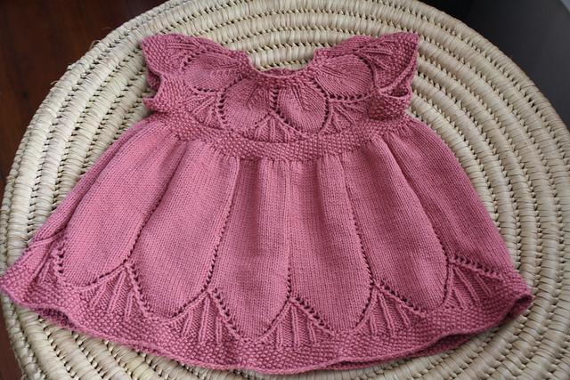 Детское платье с кокеткой листиками Clara