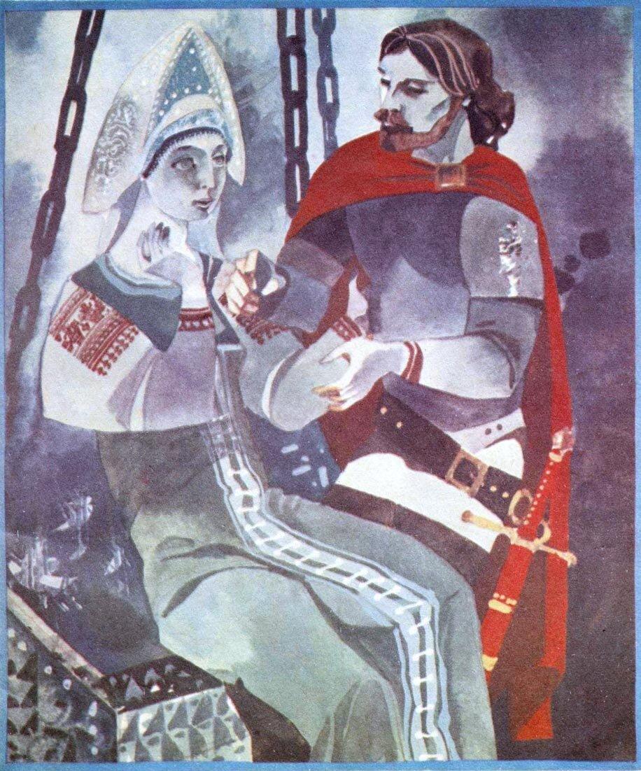 Картинки сказка мертвой царевне и о 7 богатырях