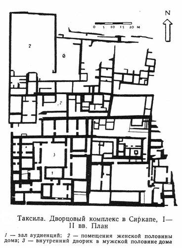Дворец в Таксиле, чертеж