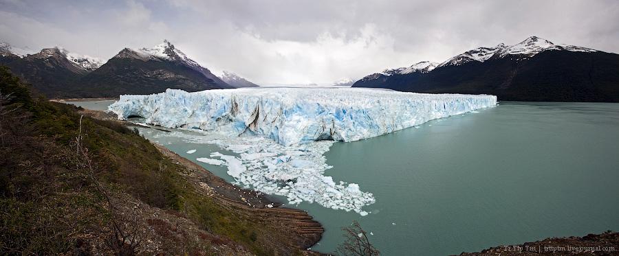 18. Устоявший перед потеплением. Ледник Перито Морено.