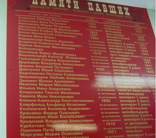 Стенд памяти павших врачей во время Великой Отечественной войны (04.04.2013)