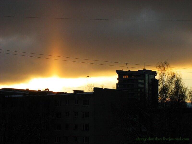 2012.12.31 закатный световой (солнечный) столб