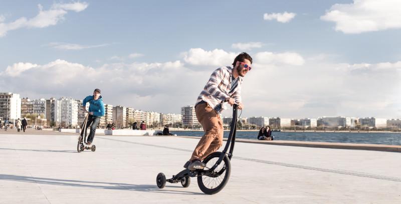 Езда на Half Bike это — это сочетание бега и велоспорта, поскольку вы находитесь в стоячем положении