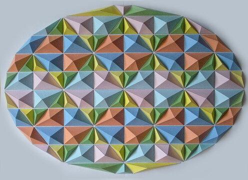 Мозаика из оригами Кота