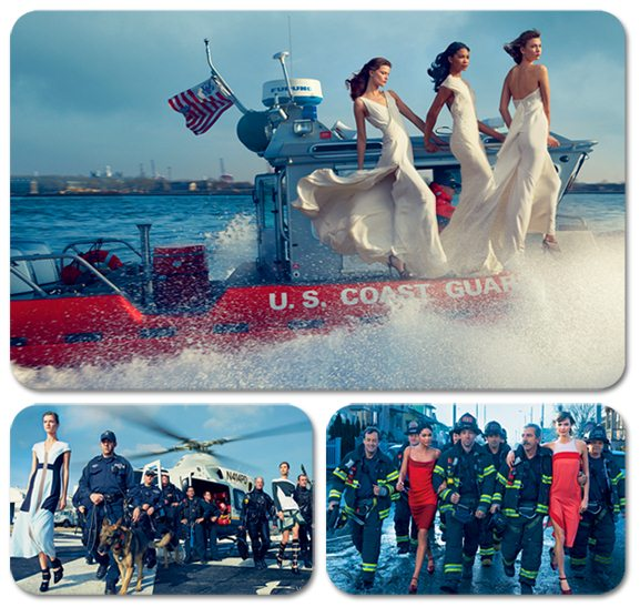Борцы с ураганом / Storm Troupers by Annie Leibovitz in Vogue US february 2013
