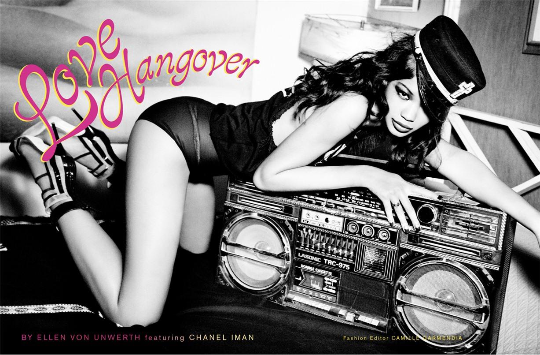 Девушка, которая зажигает - Шанель Иман / Chanel Iman by Ellen von Unwerth in Galore Magazine