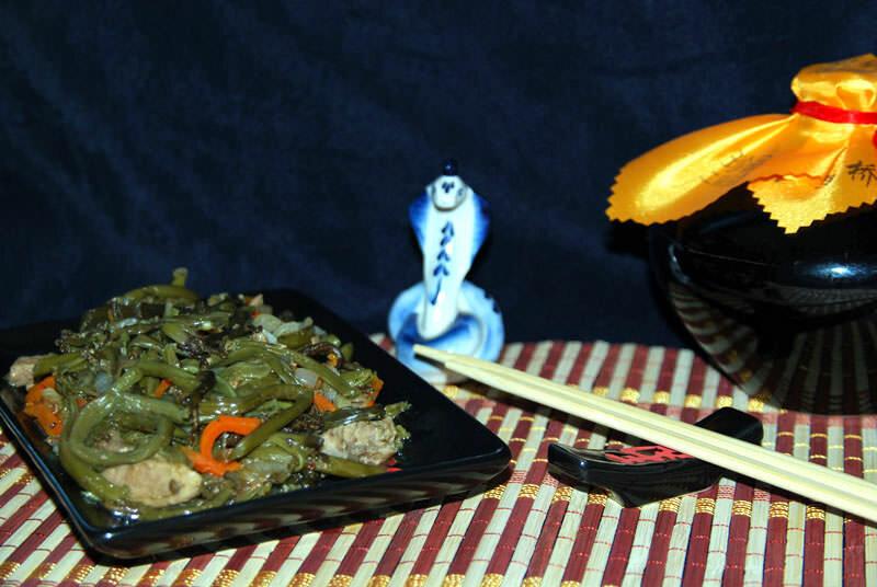 китайская закуска с папоротником