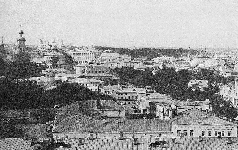 Панорама с видом на Петровский бульвар