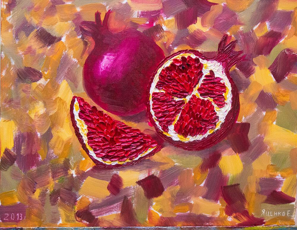 Первая картина маслом Варганчика. Мастер-класс по живописи в кофейне Skyberry (Днепропетровск)