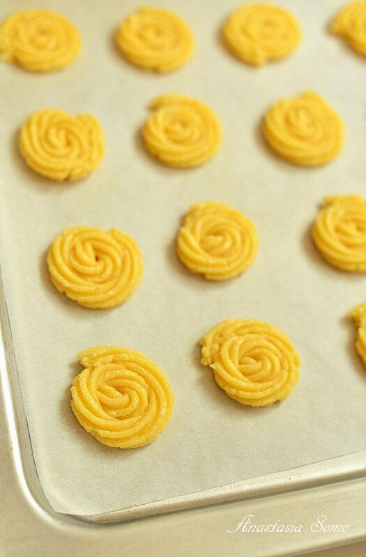 Печенье из поленты (перед выпечкой)