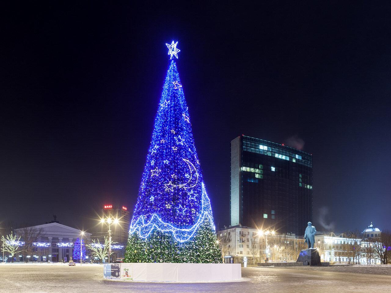 Фото новогодней елки 2012 воронеж 6