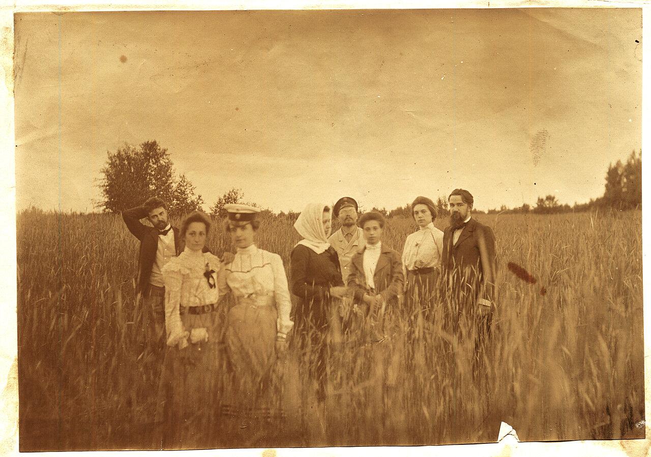 1902. Компания Рубашкиных в поле