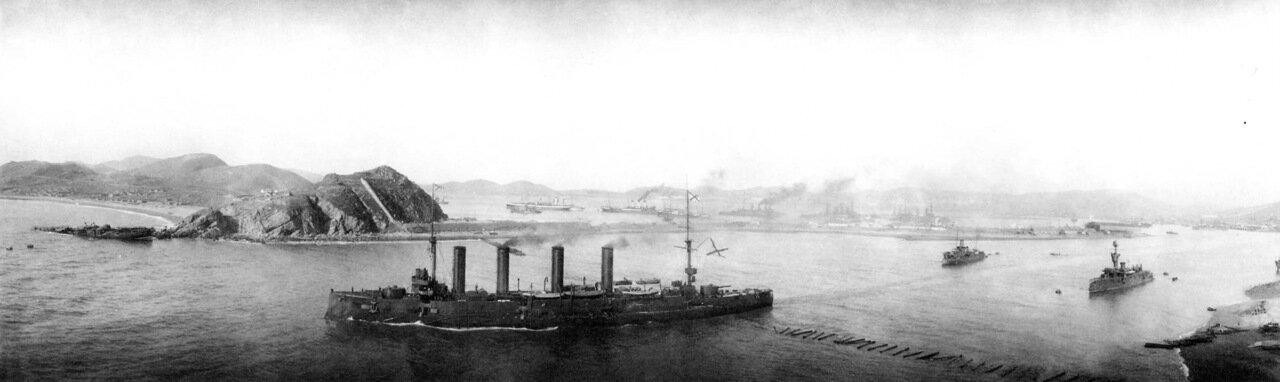 Выход броненосного крейсера Баян с внутреннего рейда Порт-Артура на помощь миноносцу Страшный, 31 марта 1904 года