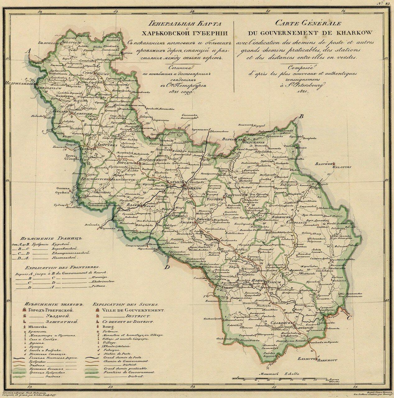23. Харьковская губерния. 1821