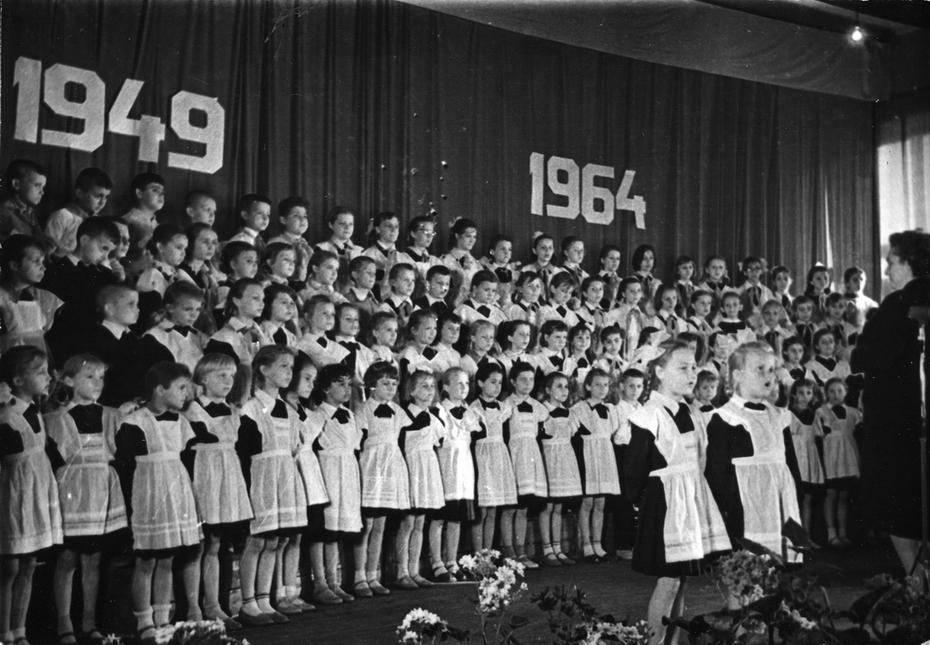 1964.Выступление детского хора Дарницкого дома пионеров посвященное 15-летию хора