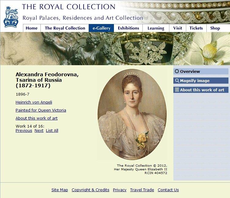 Императрица Александра Фёдоровна (1896-1897) Ангели, Генрих фон (1840 —1925); в Королевской Коллекции