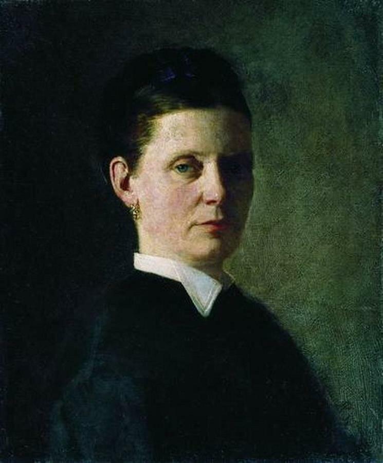 Женский портрет. 1874, ГТГ, Репин (1844-1930)