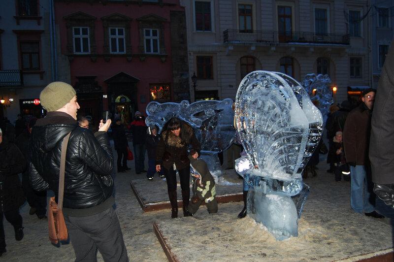 ледянные скульптуры