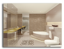 ОАЭ. Дубаи. Le Meridien Mina Seyahi Beach Resort & Marina. Royal Suite - Bathroom - rendering