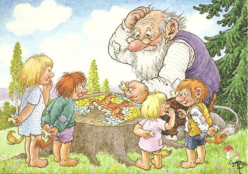 Троицей открытка, дедушка с внуками прикольные картинки