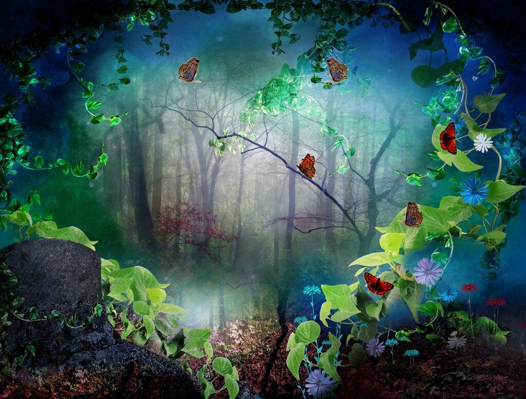 чтобы сказочный лес картинки хорошего качества фото