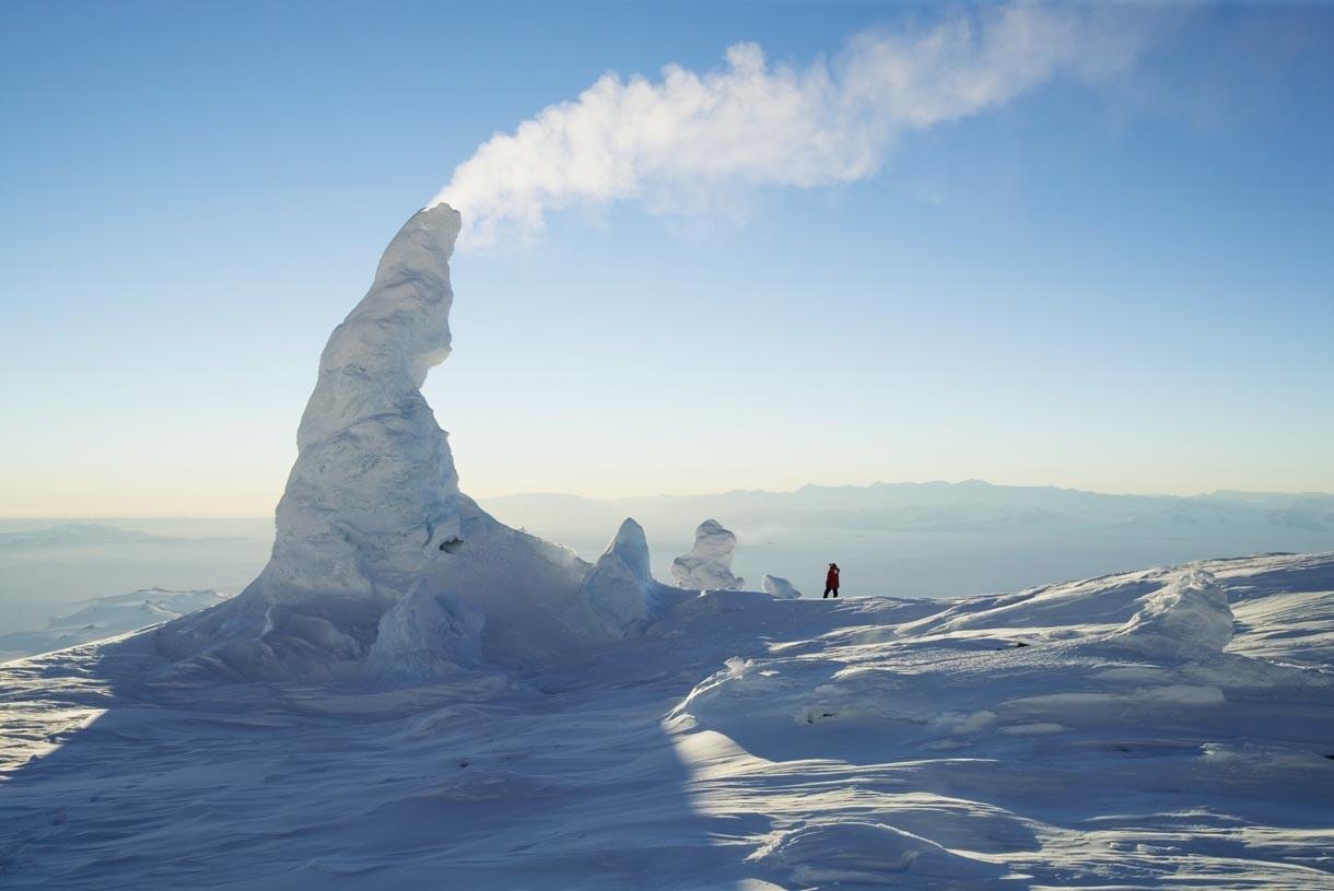 Вулкан эребус довольно хорошо изучен