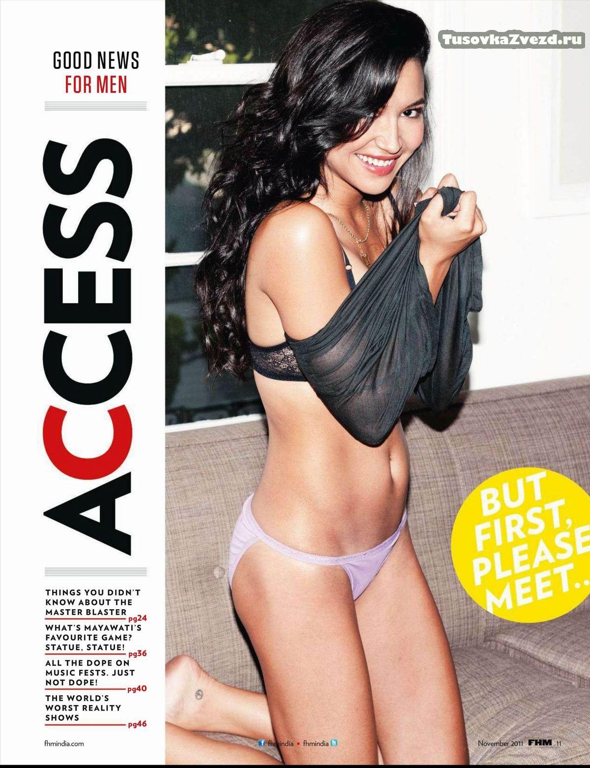 Ная Ривера (Naya Rivera) фото в журнале FHM Индия, ноябрь 2011