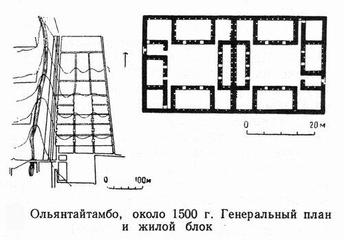 Жилой блок Ольянтайтамбо, план