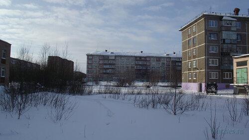 Фото города Инта №3619  Мира 36, 38, 34 и 32 19.02.2013_12:03