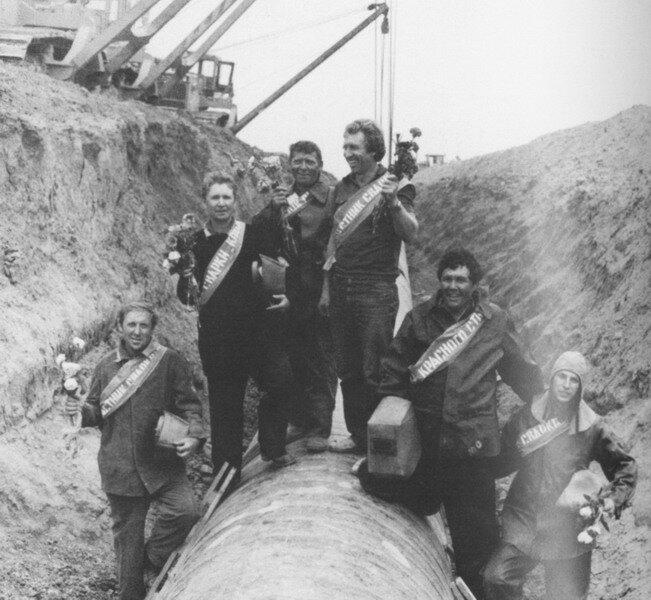 На сооружении газопровода «Уренгой-Помары-Ужгород». Винничина, 1983 г.