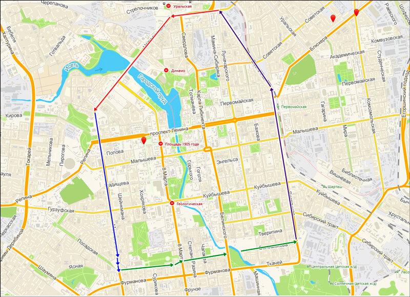 помочь карта екатеринбурга с фото улицами про